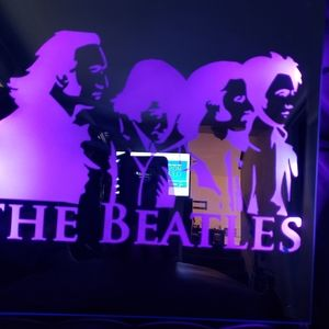 Beatles etched lighted mirror